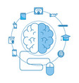 brain and mouse vector image vector image