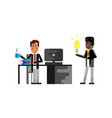 business meeting european manager with businessman vector image