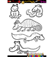 cartoon animals set for coloring book vector image vector image