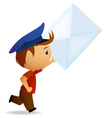 cartoon postman vector image vector image
