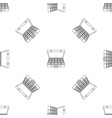 cash in bag pattern seamless vector image vector image