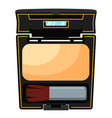 colorful cartoon compact face powder with brush vector image vector image