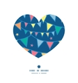 colorful doodle bunting flags heart silhouette vector image vector image