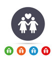 couple sign icon woman love woman lesbians vector image