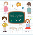 cute kids back to school cartoon vector image
