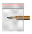 EPS10 nylon transparent plastic zip lock bag vector image