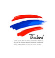 flag thailand brush stroke design vector image