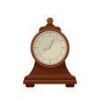 flat icon of retro wooden desk clock with vector image vector image
