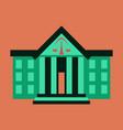 flat icon on stylish background courthouse vector image vector image