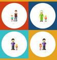 flat icon relatives set of son grandma boys vector image vector image