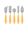 flat set of metallic trowels different vector image