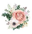 floral card design garden flower lavender rose vector image vector image
