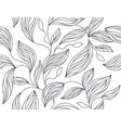 foliage seamless pattern leaves line drawing in b vector image