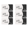gift cards in the style of material design with vector image vector image
