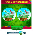 grasshopper 9 differences vector image vector image