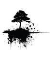 Grunge tree silhouette vector image vector image