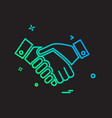 hands shake icon design vector image vector image