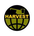 harvest logo agriculture emblem combine harvester vector image vector image