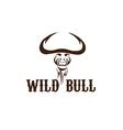 head of wild bull vector image vector image