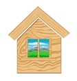 Home icon on white background vector image
