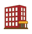 hotel building icon vector image vector image