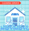 house cleaning service vector image vector image