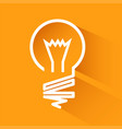 idea bulbs design over orange background with vector image vector image