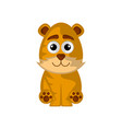 isolated cute tiger on white background vector image vector image