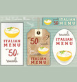 italian ravioli stickers set vector image