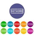 Keyword flat icon vector image vector image