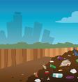 landfill vector image vector image