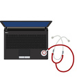 Laptop and stethoscope vector image vector image