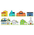 little cute house or apartments family american vector image vector image