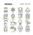 Modern thin linear icons of physics and vector image