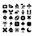 Nature Icons 5 vector image vector image