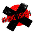 online threat rubber stamp vector image vector image