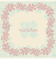 ornate floral invitation card vector image vector image