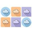 outlined icon of light rainy weather with vector image