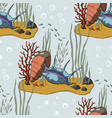 pattern with coral reef vector image vector image
