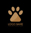 paw logo icon logo symbols abstract vector image