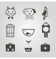 pets icons set of shop symbols isolated vector image