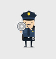police officer shouting using megaphone vector image