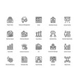 project management line icons set 25 vector image vector image