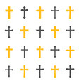 religious cross symbol vector image vector image