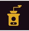 retro coffee grinder vector image vector image