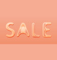 sale banner with paper cut text lettering vector image