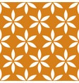 seamless pattern with simple floral flower motif vector image vector image
