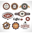 set coffee labels and badges retro style vector image