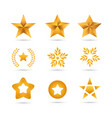 set golden stars icons vector image vector image