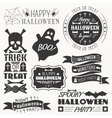 Set of halloween decorative elements vector image vector image